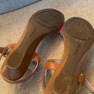 Ellen Tracy Shoes - Ellen Tracy Red Leather Sandals~Size 7.5